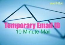 Temporary Email Kaise banaye uski uri jaankari Hindi Me