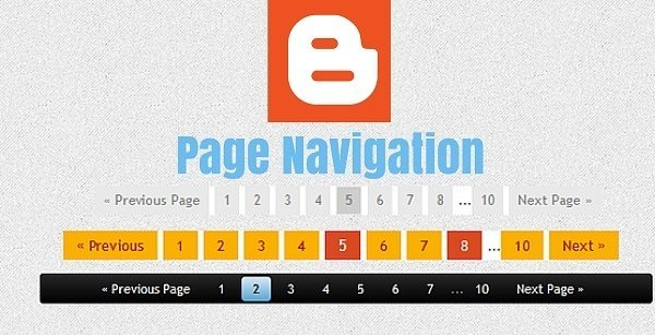 Number Page Navigation Widget Add kare Blogger Blog me hindi main