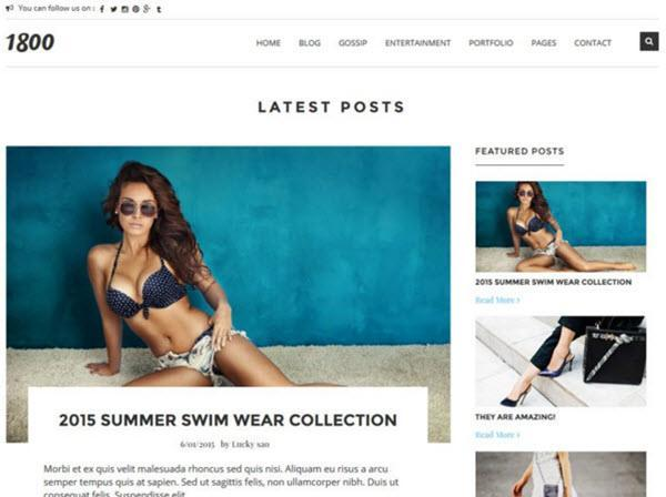 1800 Outfit Of The Day Blogger Template hindi me help
