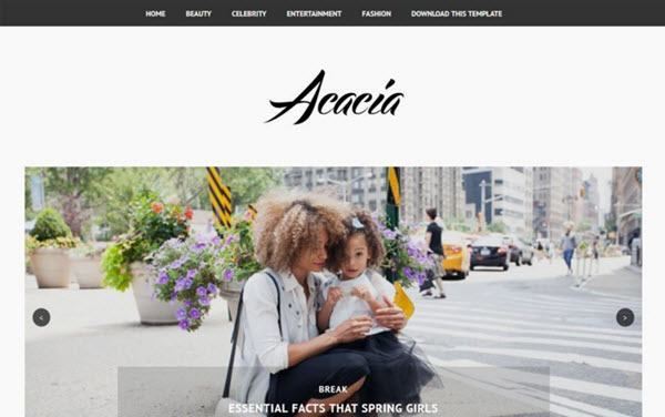 Acacia Minimal Responsive Blogger Template hindi me help