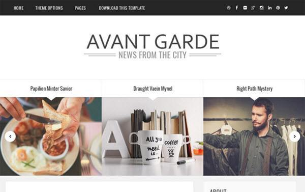 Avant Garde Responsive Blogger Template hindi me help