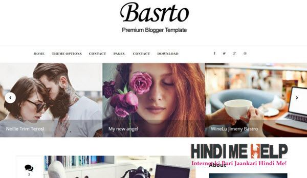 Bastro Responsive Blogger Template hindi me help