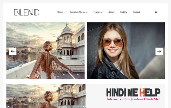 Blend Responsive Blogger Template hindi me help