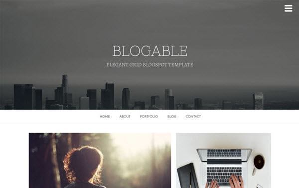 Blogable Responsive Blogger Template hindi me help