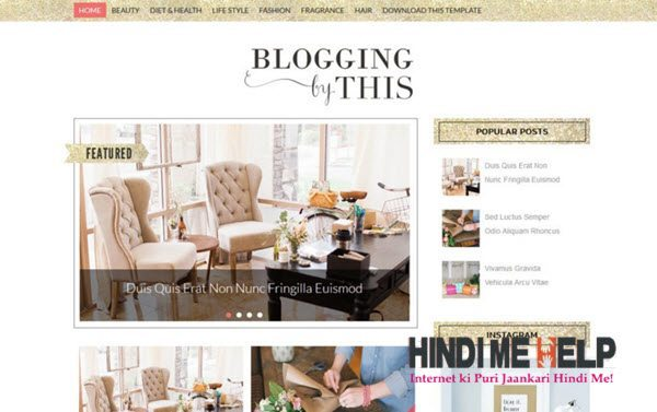 Blogging Responsive Blogger Template hindi me help