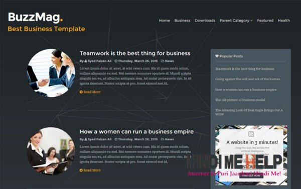 BuzzMag Responsive Blogger Template hindi me help