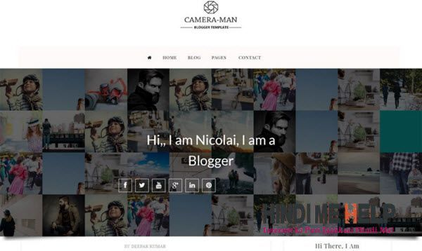 Camera-Man Responsive Blogger Template hindi me help