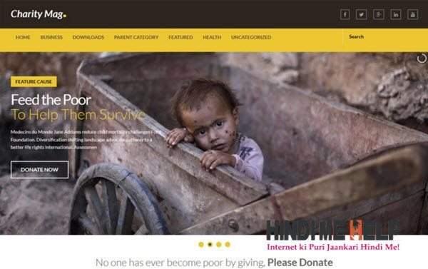 Charity Mag Responsive Blogger Template hindi me help