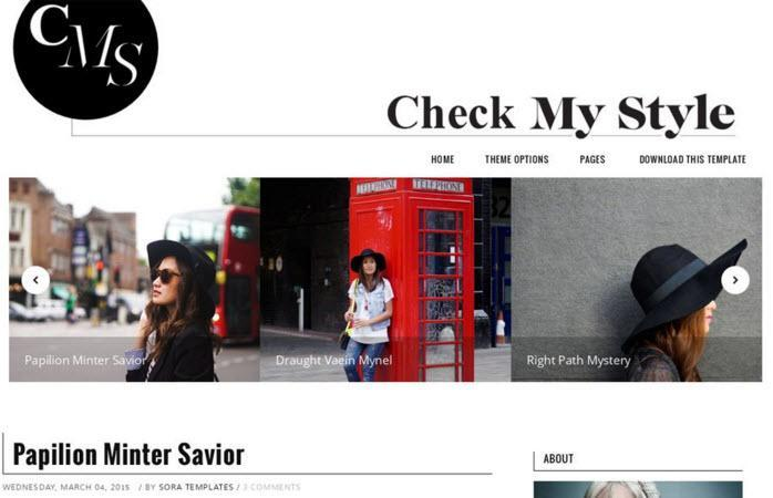 Check My Style Responsive Blogger Template hindi me help