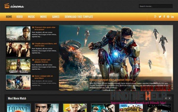 Cinema Responsive Blogger Template hindi me help
