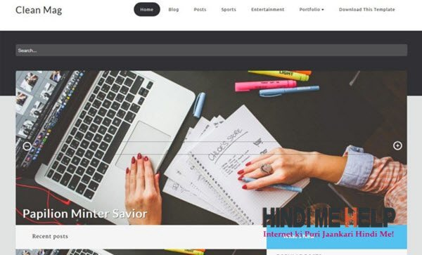 Clean Mag Responsive Blogger Template hindi me help