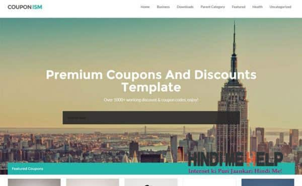 Couponism Responsive Blogger Template hindi me help