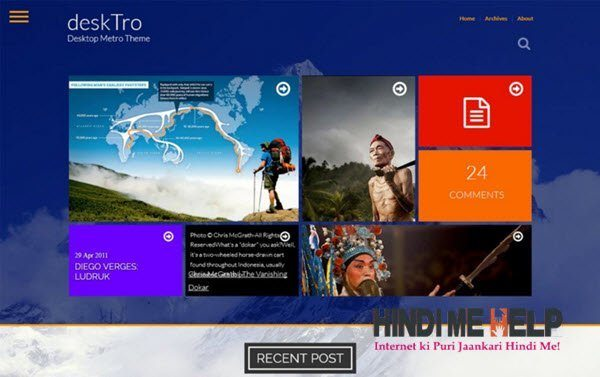 Desktro Responsive Metro Blogger Template hindi me help