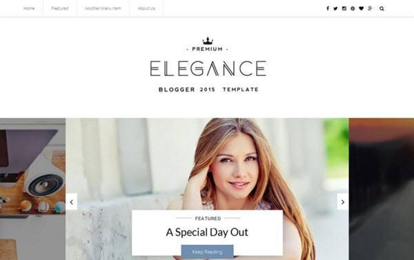 Elegance Clean Responsive Blogger Template hindi me help