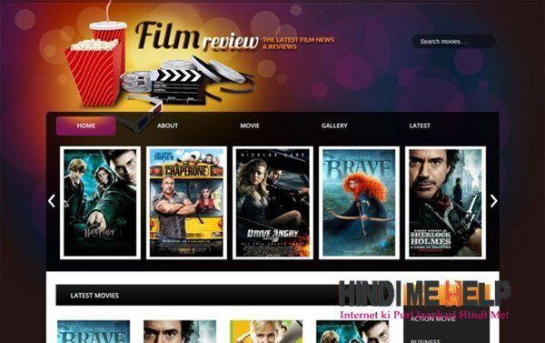 Film Reviews Responsive Blogger Template hindi me help