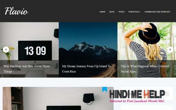 Flavio Responsive Blogger Template hindi me help