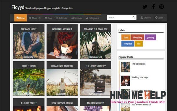 Floyyd Responsive Blogger Template hindi me help