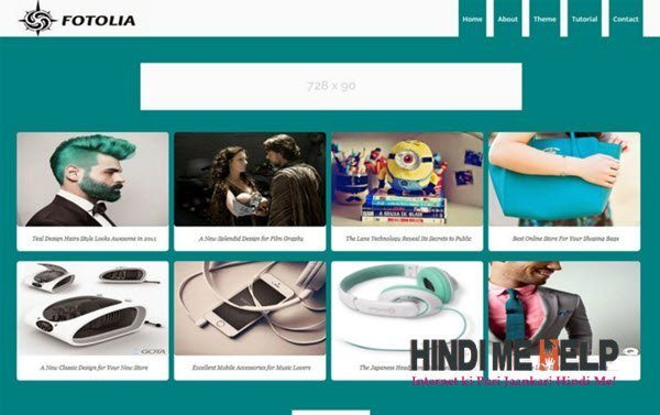 Fotolia Responsive Blogger Template hindi me help