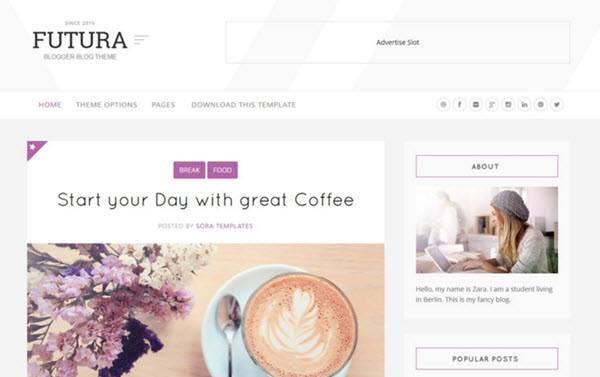 Futura Responsive Blogger Template hindi me help