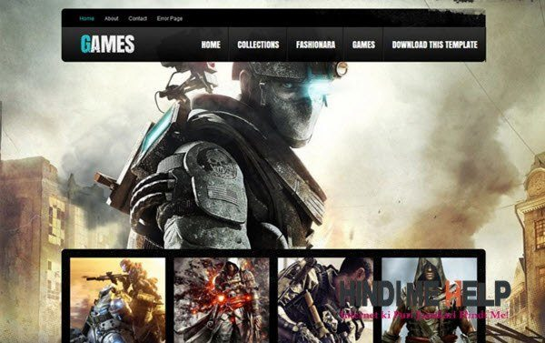 Games Responsive Blogger Template hindi me help