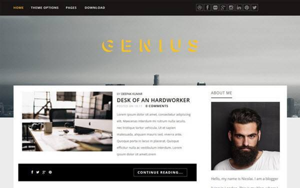 Genius Responsive Blogger Template hindi me help