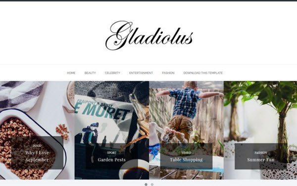 Gladiolus Minimal Responsive Blogger Template hindi me