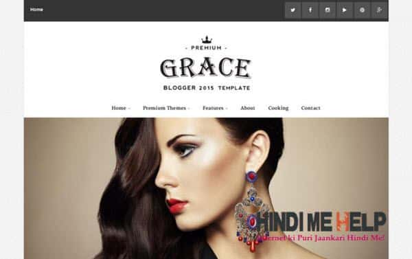 Grace Responsive Blogger Template hindi me help