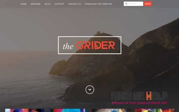 Grider Responsive Blogger Template hindi me help