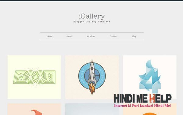 IGallery Responsive Blogger Template hindi me help