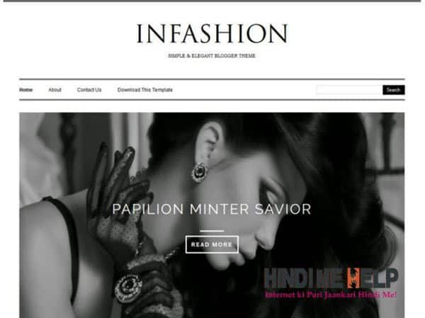 INFashion Responsive Blogger Template hindi me help