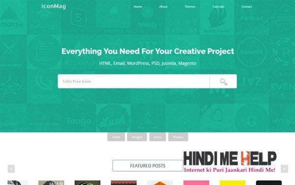 IconMag Responsive Blogger Template hindi me help