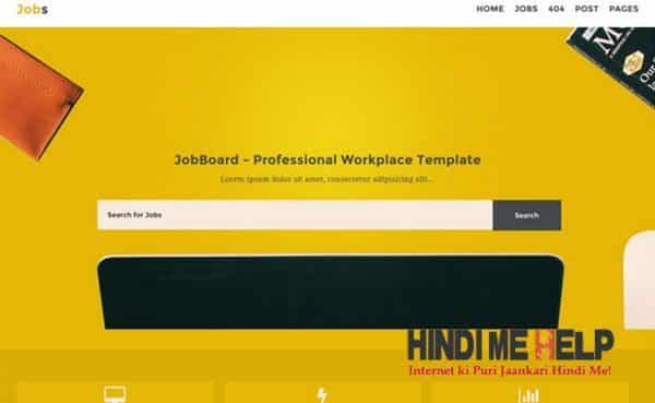Jobs Responsive Blogger Template hindi me help