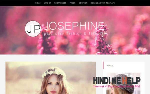 JosePhine Responsive Blogger Template hindi me help