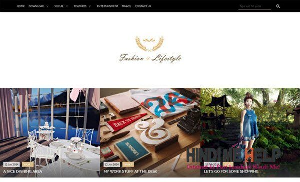 Lifestyle Responsive Blogger Template hindi me help