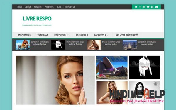 Livre Respo Blogger Template hindi me help
