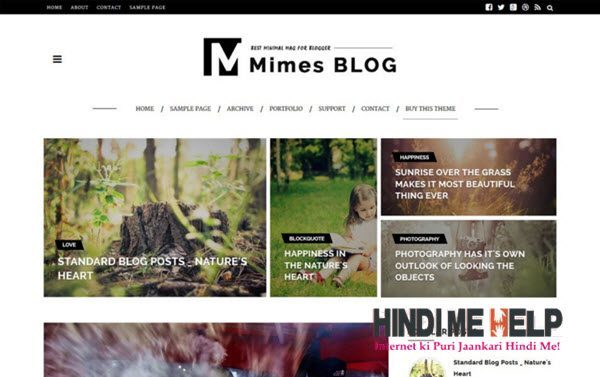 Mimes-Blog Multipurpose Blogger Template hindi me help