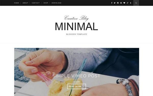 Minimal – Clean & Responsive Blogger Template