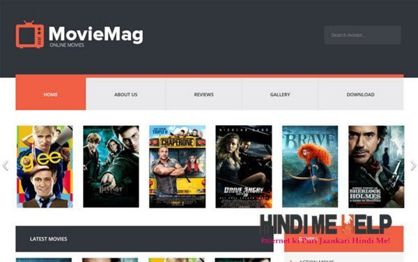 Movie Mag Responsive Blogger Template hindi me help