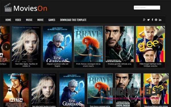 Movies On Responsive Blogger Template hindi me help
