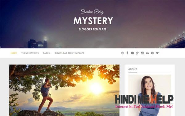 Mystery Responsive Blogger Template hindi me help