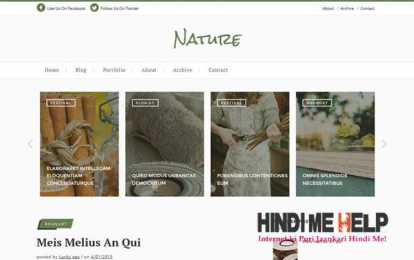 Nature Classic Blogger Template hindi me help