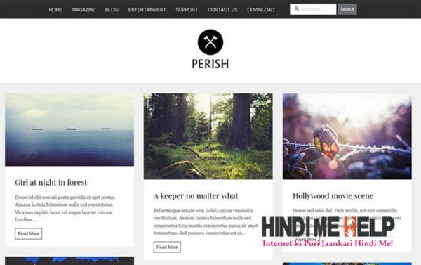 Perish Responsive Blogger Template hindi me help