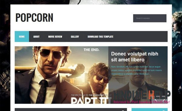 PopCorn Responsive Blogger Template hindi me help