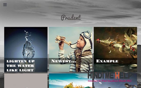 Prudent Responsive Blogger Template hindi me help