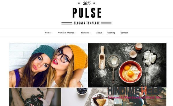 Pulse Responsive Blogger Template hindi me help