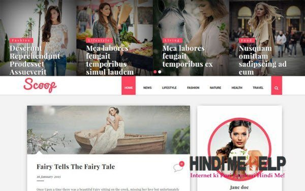 Scoop Fashion Responsive Blogger Template hindi me help