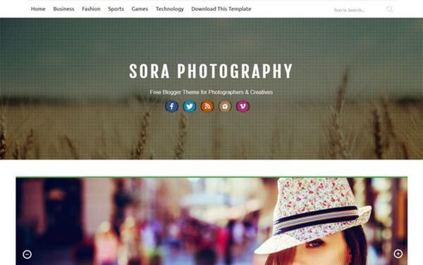 Sora Photography Responsive Blogger Template hindi me help