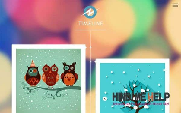 Timeline Responsive Blogger Template hindi me help