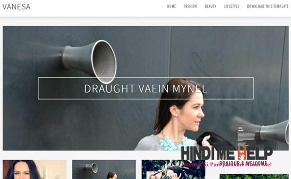 Vanesa Responsive Blogger Template hindi me help