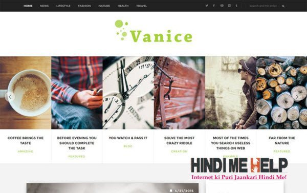 Vanice Magazine Responsive Blogger Template hgindi me help